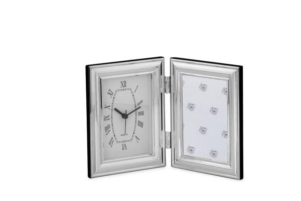 Fotorahmen mit Uhr breit glatt gewölbt 9x13