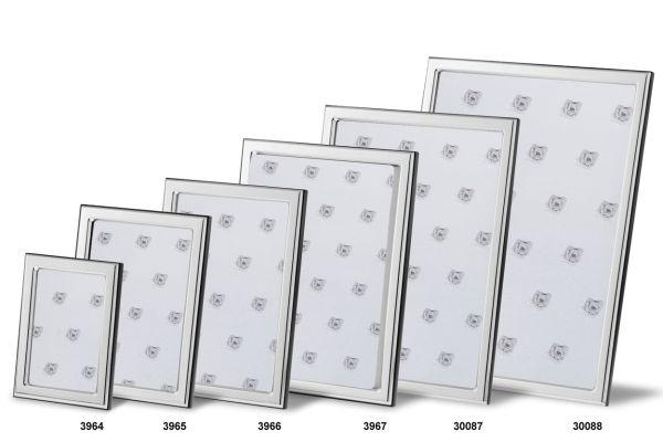 Rahmen rechteckig schmal glatt poliert 18x24 - Echt Silber
