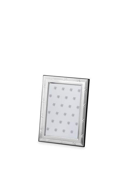 Rahmen Kreuzband 9 x 13 Echt Silber mit Holzrücken