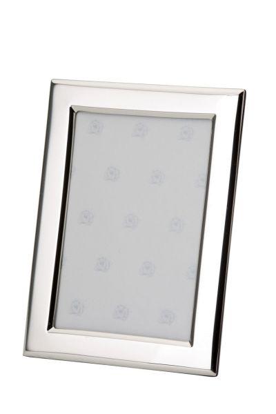 Rahmen rechteckig flach glatt poliert 13x18 - Echt Silber