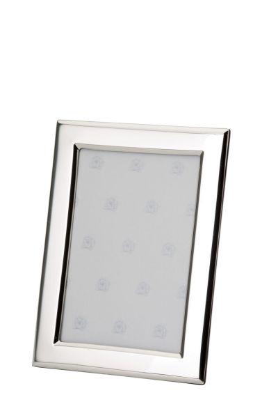 Rahmen rechteckig flach glatt poliert 6x9 - Echt Silber
