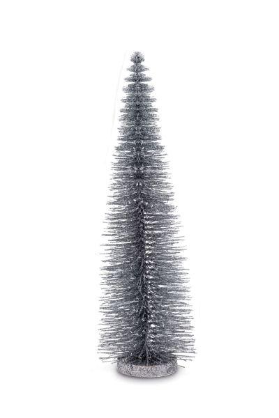 Deko Glitzerbaum Silberfarben 45,0 cm