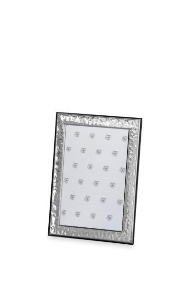 Rahmen gehämmert 10 x 15 Echt Silber mit Holzrücken