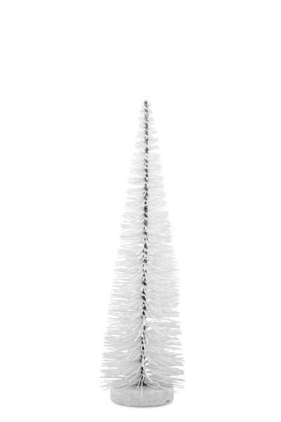 Deko - Glitzerbaum weiß 35,0 cm