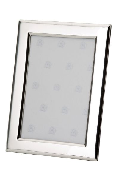 Rahmen rechteckig flach glatt poliert 18x24 - Echt Silber