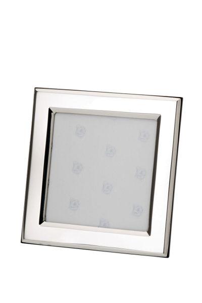 Rahmen quadratisch flach glatt poliert 9x9 - Echt Silber