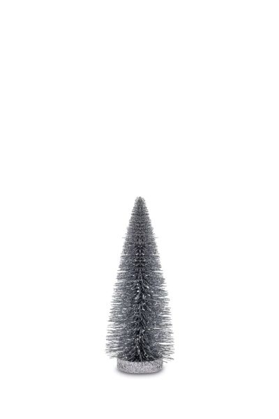 Deko Glitzerbaum Silberfarben 25,0 cm