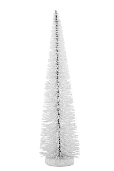 Deko - Glitzerbaum weiß 45,0 cm