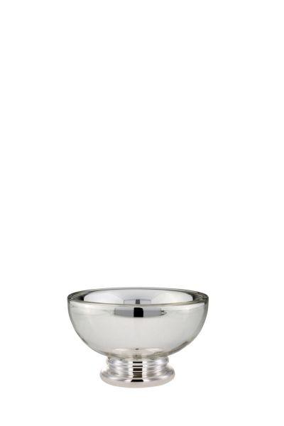 Schale auf Fuß Ø: 20 cm Silberglas