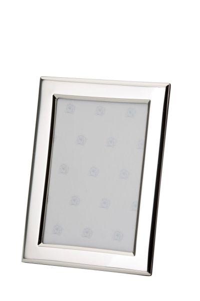 Rahmen rechteckig flach glatt poliert 9x13 - Echt Silber