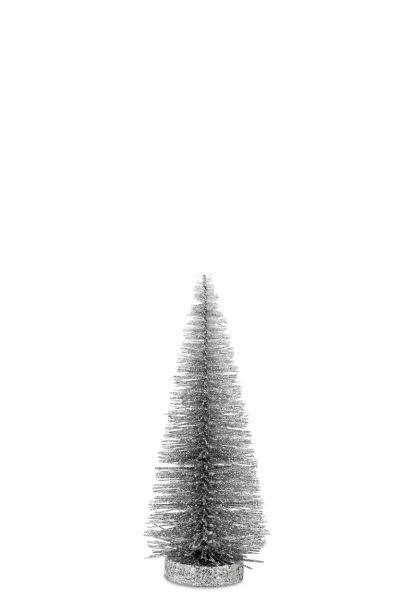 Deko - Glitzerbaum Hell-Silber 25,0 cm
