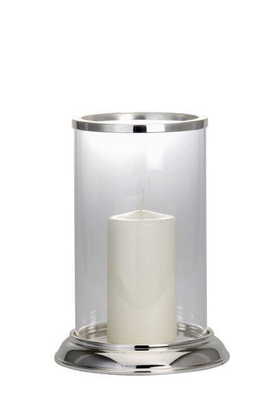 Windlicht / Kerzenhalter mittel glatt poliert