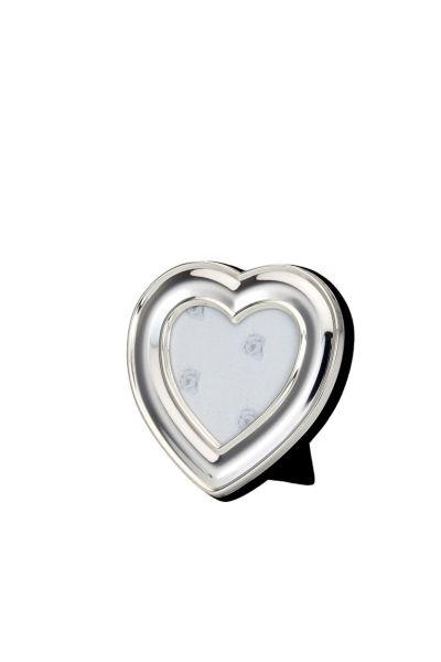 Fotorahmen Herz glatt poliert 6x6