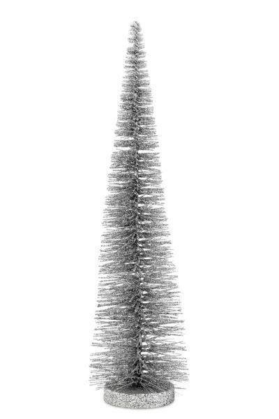 Deko - Glitzerbaum Hell-Silber 45,0 cm