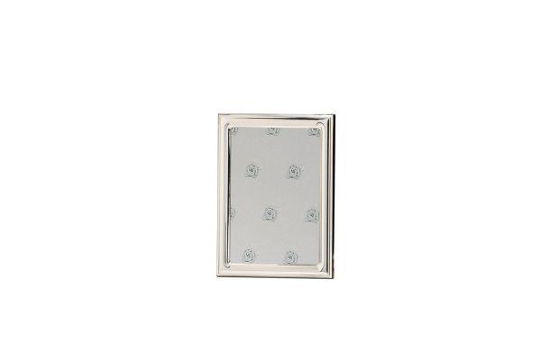 Rahmen leicht gewölbt glatt poliert 18x24 - Echt Silber