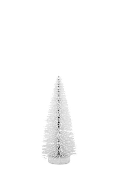 Deko - Glitzerbaum weiß 25,0 cm