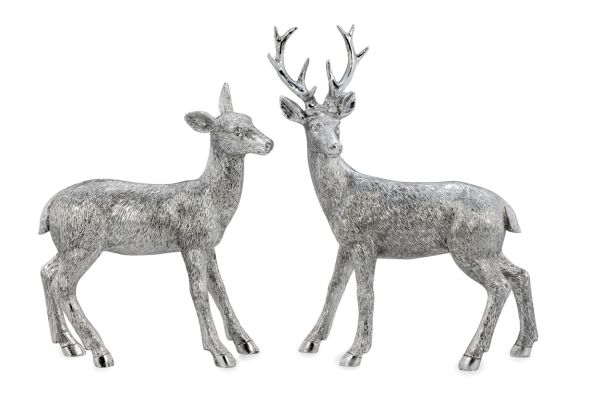Hirsch-Paar stehend, 2-tlg.