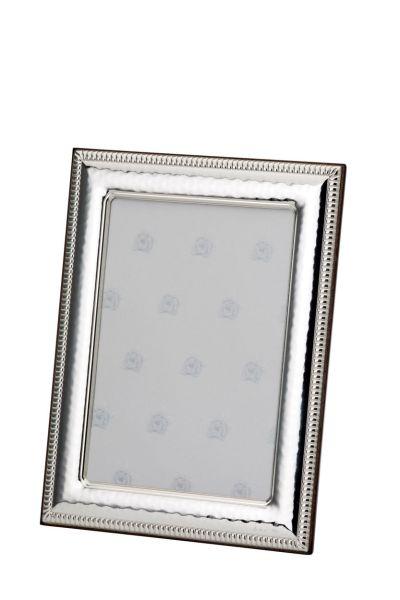 Rahmen Kordel/Perle 13x18 - Echt Silber