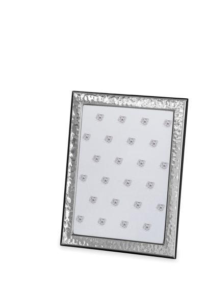Rahmen gehämmert 13 x 18 Echt Silber mit Holzrücken