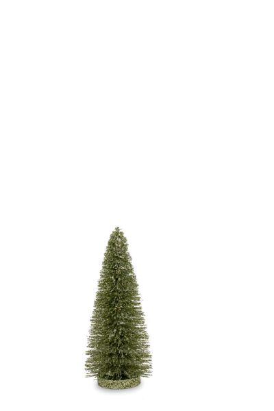 Deko - Glitzerbaum grün 25,0 cm