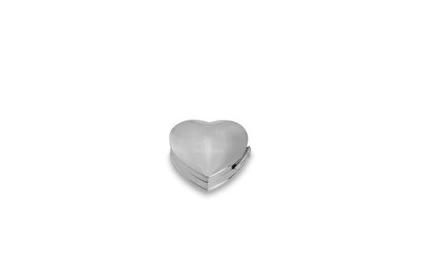 Pillendose Herz glatt - Echt Silber