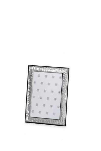 Rahmen gehämmert 9 x 13 Echt Silber mit Holzrücken