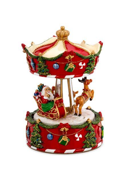Spieluhr Karussell mit Weihnachtsmann