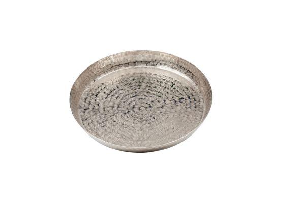 Tablett rund, Reiskorn, klein