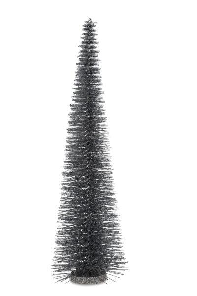 Deko - Glitzerbaum Silberfarben 55,0 cm