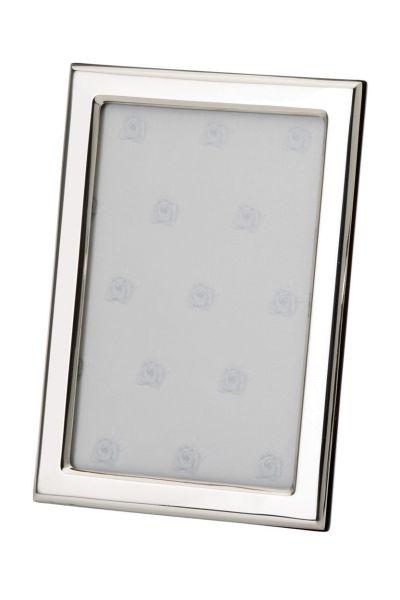 Rahmen rechteckig schmal glatt poliert 13x18 - Echt Silber