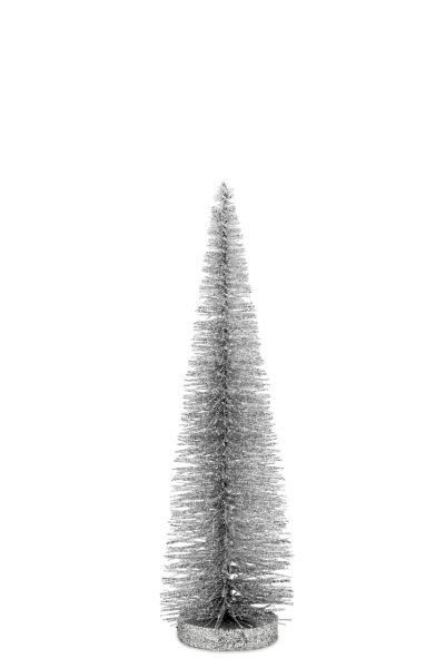 Deko - Glitzerbaum Hell-Silber 35,0 cm