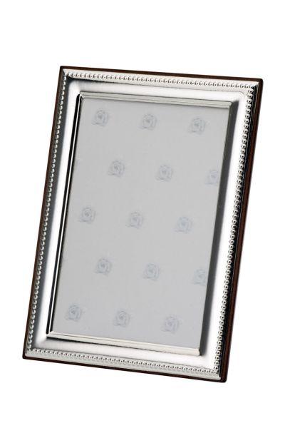 Rahmen schmal Perlrand 18x24 - Echt Silber