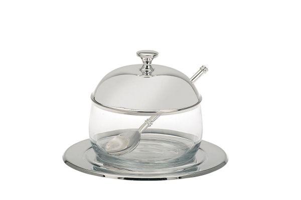 Marmeladenglas mit Löffel