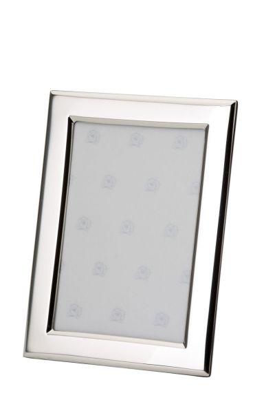Rahmen rechteckig flach glatt poliert 10x15 - Echt Silber