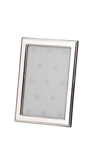 Rahmen rechteckig schmal glatt poliert 9x13 - Echt Silber