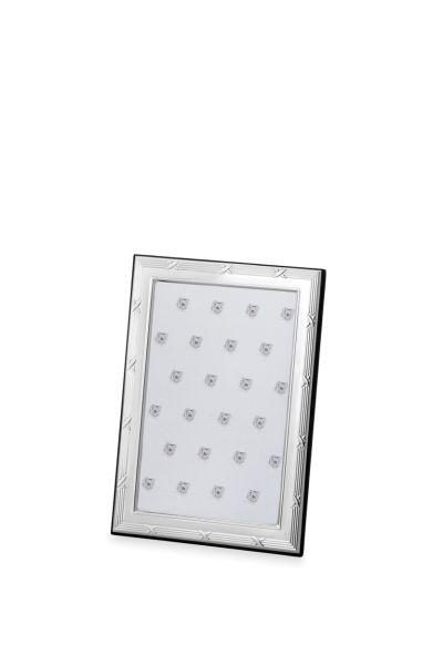 Rahmen Kreuzband 10 x 15 Echt Silber mit Holzrücken