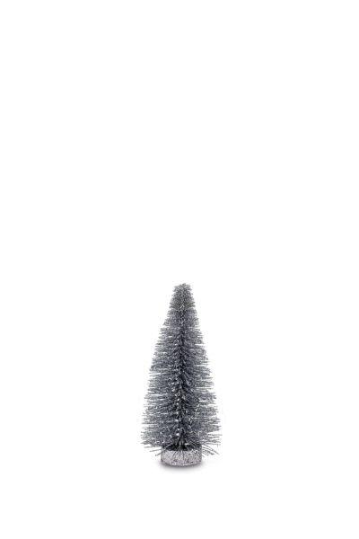 Deko Glitzerbaum Silberfarben 20,0 cm
