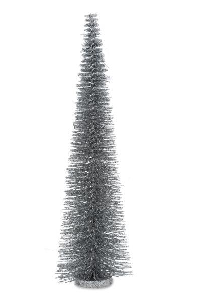 Deko - Glitzerbaum Hell-Silber 55,0 cm