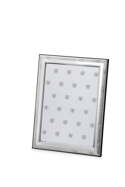 Rahmen Kreuzband 13 x 18 Echt Silber mit Holzrücken
