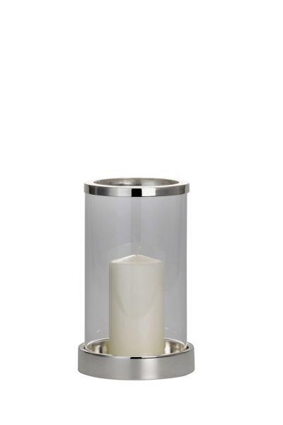 Windlicht / Kerzenhalter klein glatt poliert