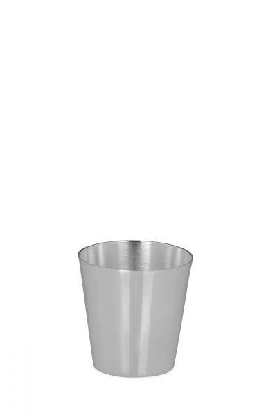Becher glatt poliert 6,5 cm