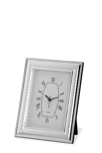Uhr mit Rahmen breit gehämmert 13x18