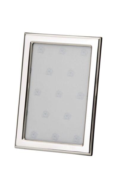 Rahmen rechteckig schmal glatt poliert 10x15 - Echt Silber