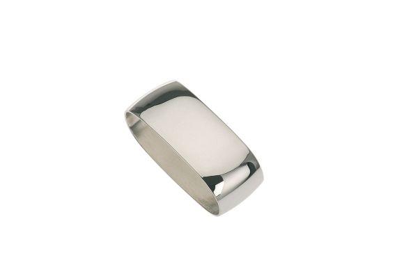 Serviettenring glatt poliert - Echt Silber