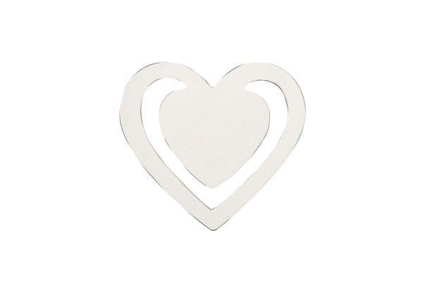 Lesezeichen Herz 4,0 x 4,0 cm