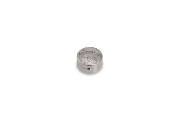 Pillendose rund graviert - Echt Silber