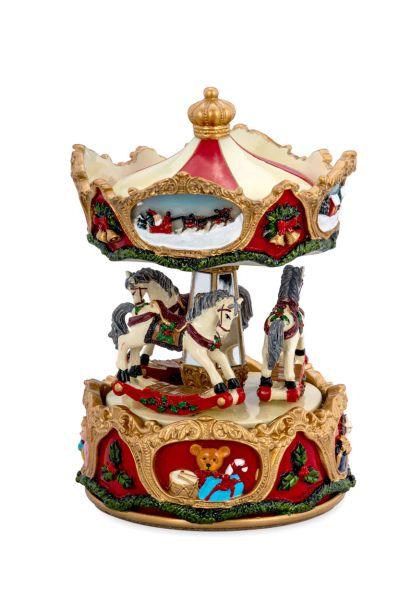 Spieluhr Karussell mit Pferden