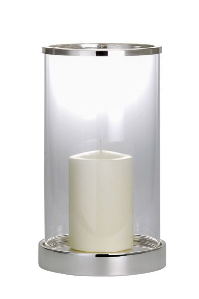 Windlicht / Kerzenhalter groß glatt poliert