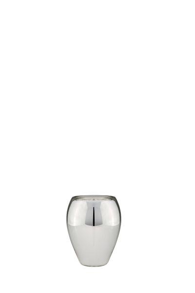 Vase oval 15,5 cm Silberglas