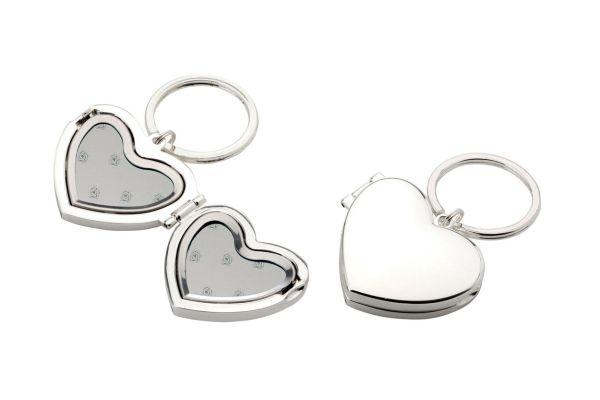 Schlüsselanhänger Herz, Medaillon